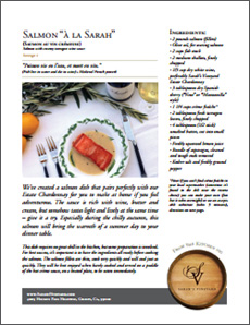 Sarah's Vineyard Salmon Recipe