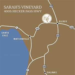 Map to Sarah's Vineyard